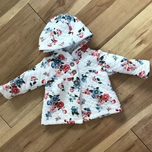 a39bd3800 Carter's Jackets & Coats | Baby Girl Floral Quilted Jacket Carters ...